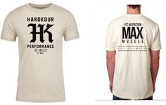 Our Initial Product Launch:  The exclusive Hardkour Performance x Max Muscle Los Alamitos Collab Mystery Tee.  SOLD OUT !!!  THANK YOU to everyone that purchased one from us! Much Love.