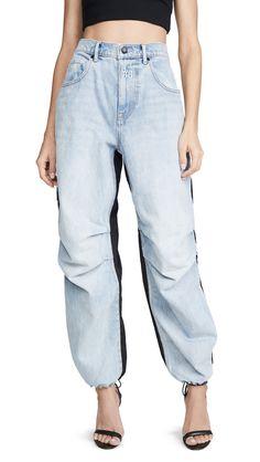 Denim x Alexander Wang Pack Mix Pants Black Denim Pants, Bongo Jeans, Brandy Melville Skirt, Cute Pants, Light Wash Jeans, China Fashion, Kylie Jenner, Alexander Wang, Mom Jeans