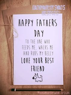 Happy Fathers Day from your best friend dog pet dad daddy novelty card £3.95