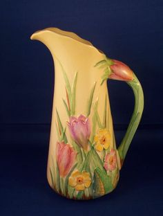 Rare Carlton Ware Crocus Pitcher