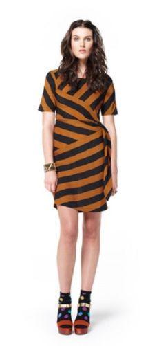 GORMAN-Tigeress-Stripe-Silk-Dress-Size-6-Excellent-Condition
