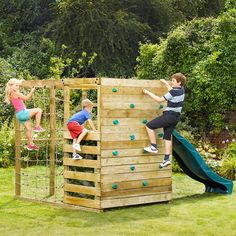 Plum Play Wooden Climbing Frame Jungle Gym w/ Slide - 5036523051033 For Sale, Buy from Outdoor Playsets collection at MyDeal for best discounts. Kids Outdoor Play, Kids Play Area, Backyard For Kids, Outdoor Fun, Outdoor Jungle Gym, Backyard Jungle Gym, Children Play, Pallet Playground, Backyard Playground