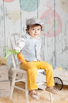 Easter outfit for boys -sear sucker and colorful pants