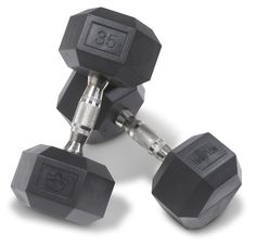 TOP RATED RUBBER HEX DUMBBELL REVIEW AND BUYER'S GUIDE. Few things in fitness have become the standard quicker than the rubber hex dumbbell. While dumbbells have been around since ancient Greece, rubber hex dumbbells were first introduced into the fitness market as recently as 1999. Since that point, their popularity has grown to an unprecedented level, with rubber hex dumbbell sets now dominating the dumbbell market. READ THE ENTIRE ARTICLE...