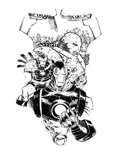 Iron Man / Iron Men by Eric Canete Comic Art