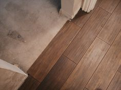 "ceramic that looks like wood | Is It Wood Flooring?"" or ""Is It Porcelain Tile?"""