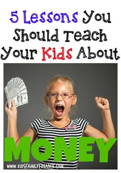 The 5 Most Important Things to Teach Your Kids About Money - Kids Family Finance Teaching Kids Money, Kids Learning, Matter For Kids, Chores For Kids, Parent Resources, Family Night, Financial Literacy, Lessons For Kids, Kids Education