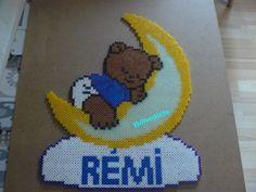 Baby Bear with name hama perler beads by Bénédicte Lambert