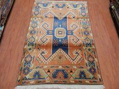 """Pale Color Turkish Rug Old Rug 4' x 5'7"""" Free Shipping Vintage Rug Nomadic Rug Decorative Boho Rug Vintage Floor Rug"""