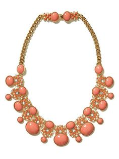 Banana Republic - Tropical Sunset Necklace #coral #baubles (I'm especially fond of the pretty clasp.)