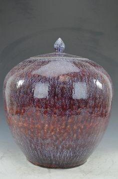 Red Glaze Lidded Jar : Lot 31  Sold for $30.00