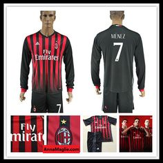 Magliette Calcio 2016 2017 AC Milan 7 MENEZ Casa Manica lunga Prima Divisa http://www.annamaglie.com/magliette-calcio-2016-2017-ac-milan-7-menez-casa-manica-lunga-prima-divisa-p-2466.html