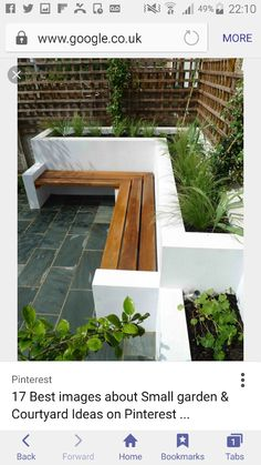 Most up-to-date Pics Raised Garden Beds white Suggestions Convinced, which is a strange headline. Although indeed, any time When i first built my own raised garden beds. Small Courtyard Gardens, Small Courtyards, Back Gardens, Outdoor Gardens, Small Gardens, Contemporary Garden Design, Small Garden Design, Patio Design, Contemporary Landscape