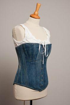 Denim corset, re-cycled 501's.....shame Levi's showed no interested.