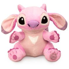"Disney Lilo and Stitch Angel Plush Toy 9"" ($9.99) ❤ liked on Polyvore featuring pink, plush and toys"