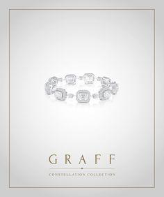 Graff Diamonds: Emerald Cut Diamond Constellation Bracelet