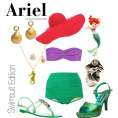 """""""The Little Mermaid Swimsuit Edition"""" by bforbel on Polyvore. Too cute"""