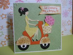 """""""Cruising By for a Birthday Hi!"""" Scooter Birthday Card - Cards. - Cricut Forums"""
