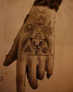 Legend Of Zelda :) Hand Tattoo :)