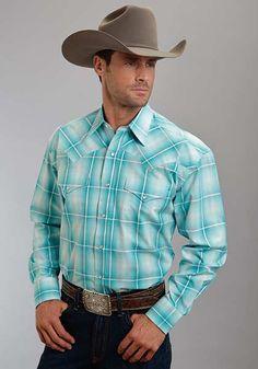 Men's Stetson Snap Shirt in Y/D Plaid