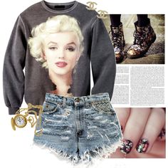 Marilyn, created by brightlightsbiggercity on Polyvore