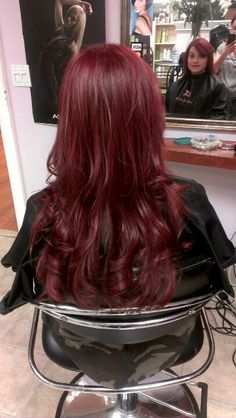 Deep red hair great for fall!