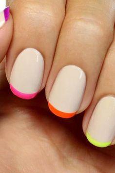 Neon manicure ideas