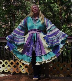 Recycled Sweater Coat Upcycled Gypsy Coat by VintageDesignByVines, $229.00