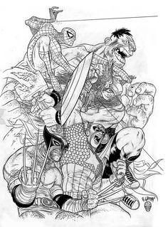 Marvel Heroes by Rafael Grampa