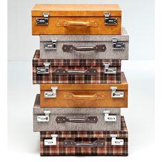 KARE Design Kommode Highlands Suitcase mit 6 Schubladen