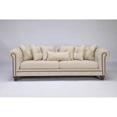 french linen tufted sofa 1 piece set 13 best beige images couch this is beautiful and comfortable it features rolled arms a back nailhead trim