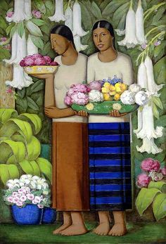 Ramos Martinez, Alfredo (1871-1946) - 1938c. Flowers of Mexico (Christie's New York, 2007) by RasMarley, via Flickr