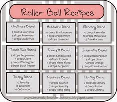 Essential Oil Roller Ball Recipes, To buy these or other doTERRA essential oils please visit: www.mydoterra.com/essentiallyjeanne