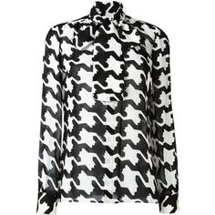 Dsquared2 geometric print pussybow blouse