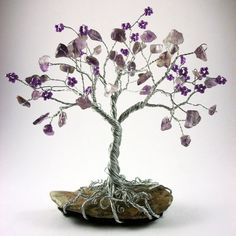 Wire and Bead Tree by TheTinyTreeShop on Etsy