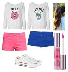 """""""Hello bestie"""" by loverrrrr on Polyvore featuring H&M, J Brand, Converse, tarte, women's clothing, women, female, woman, misses and juniors"""