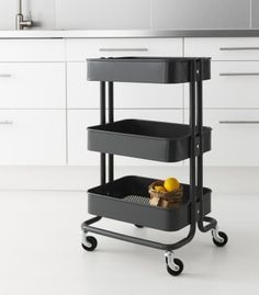 What's worse than no refreshments? Nowhere to put them! The RÅSKOG utility cart from IKEA can double as a serving station right near the action.