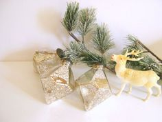 Vintage Silver Mercury Glass Ornaments by RollingHillsVintage