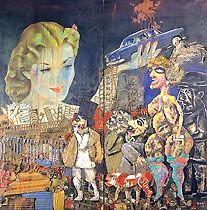 Obra de Berni - La gran tentación, 1962.