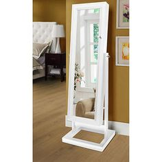 Eliza White Jewellery Armoire