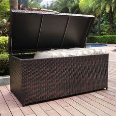 Etonnant Shop Crosley Furniture Crosley CO7300 BR Palm Harbor Outdoor Wicker Storageu2026