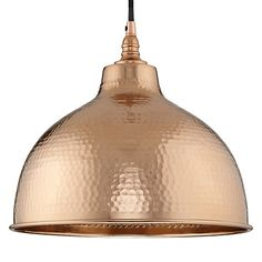 Kitchen over table: John Lewis Bolu Pendant Shade, Copper Online at johnlewis.com