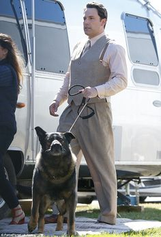 On the pull: While Ben was trying to head towards the caravan his German Shepherd had other ideas