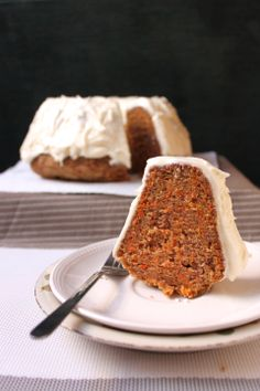 Carrot Cake with Cream Cheese Frosting - so moist and fluffy!