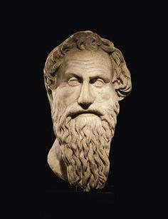 A Roman Marble Portrait Head of Antisthenes, circa late 1st-early 2nd century A.D. 18 in. (45.7 cm.) high. Photo: Christie's Images Ltd 2012.