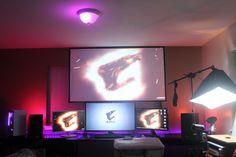 Updated My Battlestation! Computer Setup, Gaming Setup, Gaming Rooms, Custom Pc, Pc Setup, Home Technology, Nerd Stuff, New Room, Game Room