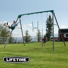 I want this!! Costco: Lifetime® 10' Metal Swing Set - Do It Yourself