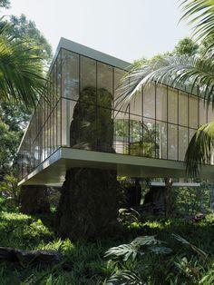 Dream Home Design, My Dream Home, House Design, Exterior Design, Interior And Exterior, Brutalist Design, Jungle House, Future House, Interior Architecture