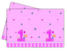 1-vuotisjuhlat tyttö; pöytäliina