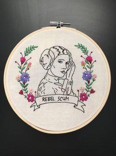 Rebel Scum Leia Hoop - NEEDLEWORK